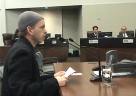 screenshot adam speaking as a delegation