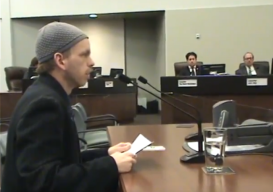 screenshot adam speaking as a delegation
